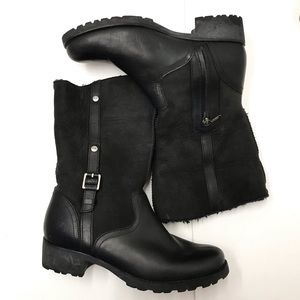 Uggs black winter boots size 10